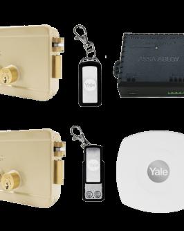 Cerradura eléctrica Yale Connect, con botón, derecha, kit control remoto