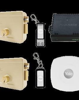 Cerradura eléctrica Yale Connect, derecha, kit control remoto