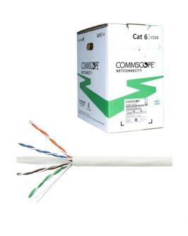 ROLLO DE 305 METROS CABLE UTP  CAT 6 DE 04 PARES X 24 AWG, LSZH-1, COLOR BLANCO, MARCA  AMP/COMMSCOPE